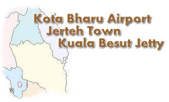 Taxi for Kota Bharu Airport, Jerteh City, and Kuala Besut Jetty routes